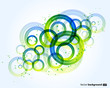 Nice abstract modern background with round shapes