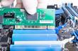 installing PCI LAN card intop slot - 31843662