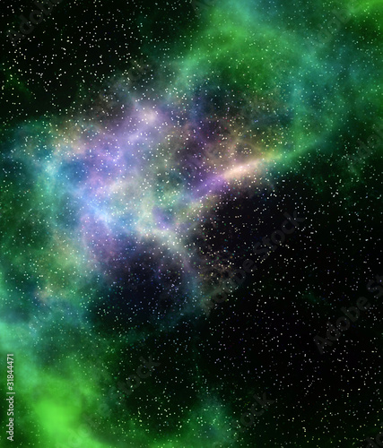 outer space cloud nebula and stars