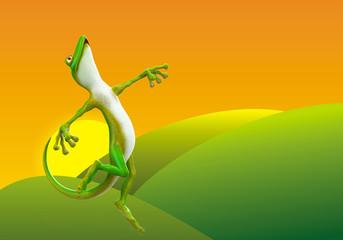 gecko jumping free