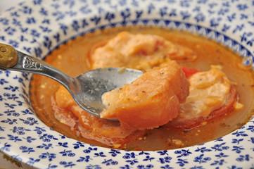 bouillabaisse et croutons