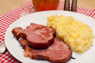 Smoked Pork Meat With Potato Purée