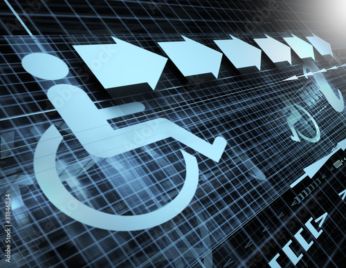 Technology Background With Symbol Of Accessibility Buy Photos Ap