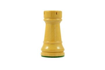 Torre de ajedrez sobre fondo blanco