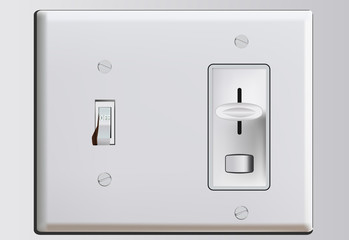 Combination switch illustraion with dimmer