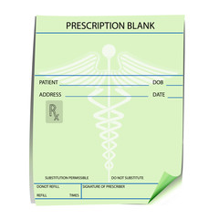Blank prescription form