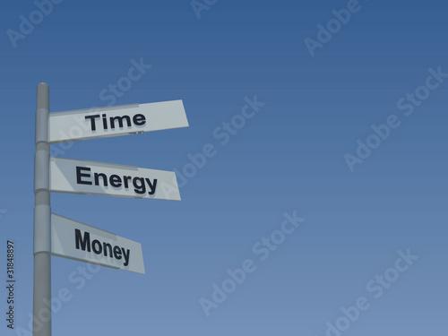 Time, Energy, Money