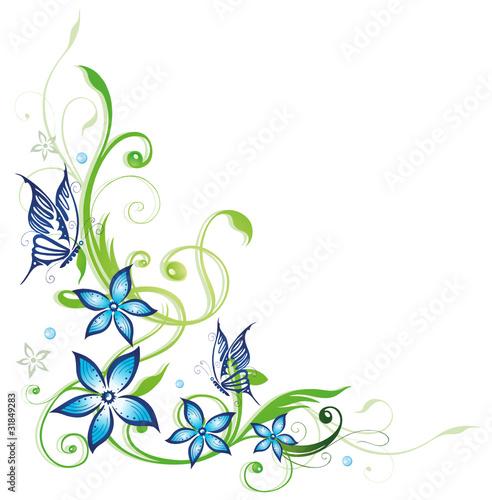 gamesageddon ranke flora blumen bl ten schmetterling gr n blau lizenzfreie fotos. Black Bedroom Furniture Sets. Home Design Ideas