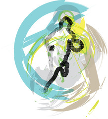 basketball player. Vector Illustration
