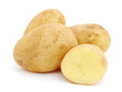 Pile of potatoes isolated on white background