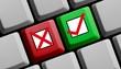 Zustimmen oder Ablehnen? Umfrage online