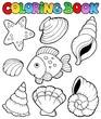 Coloring book with seashells - 31851418