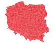 detailed map of Poland