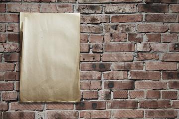 paper on brickwall