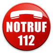 "3D Effekt Button ""Notruf 112"""