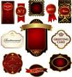Etiquettes or et rouge