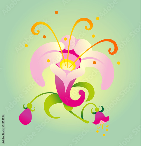 Vector illustration. Beauty flower.