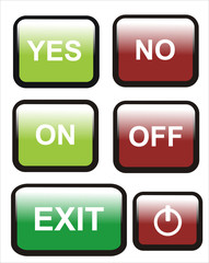 botón sí no