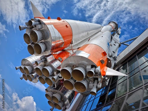 Poster Ruimtelijk Russian space transport rocket