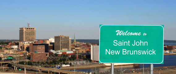 Welcome Saint John sign