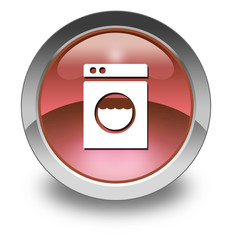 """Red Glossy Pictogram """"Laundromat"""""""