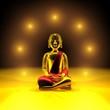 Sieben Lichter für den goldenen Buddha