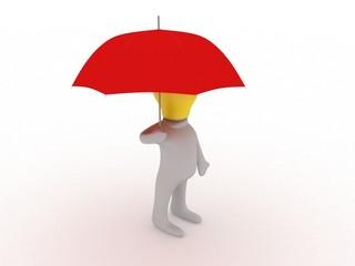 Bulbman with umbrella
