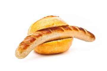 Bratwurst  mit Brötchen