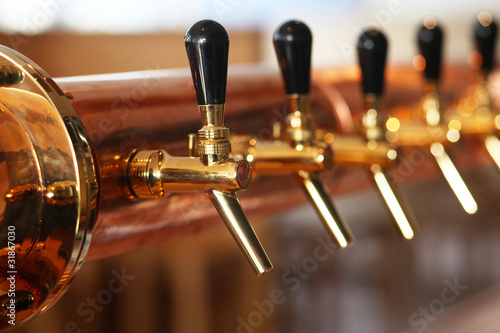 Fotobehang Buffet, Bar Beer Taps