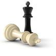 Zwei Schachkönige