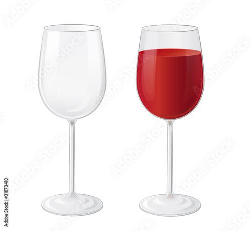 große Rotweingläser