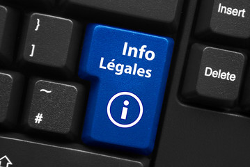 Touche INFOS LEGALES (mentions légales conditions générales)