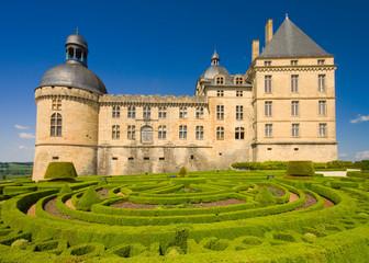 Gardens and Chateau de Hautefort, Perigord, France