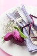 Tulip Place Setting in Purple