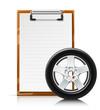 clipboard with wheel vector