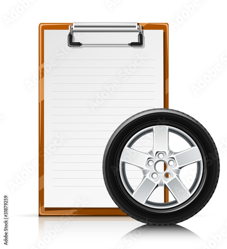 clipboard with wheel vector