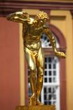Golden replica of ancient greek statue poster
