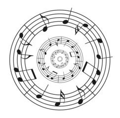Noten Kreis Muster