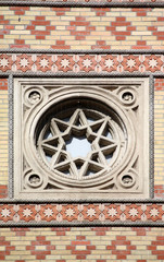 Synagogue in Budapest detail