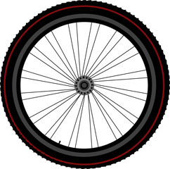 bike wheel tyre disk and gear