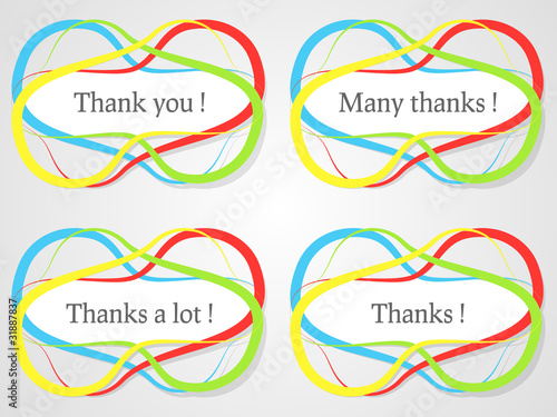 Abstract thanks stickers