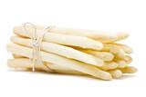 Fresh cut white asparagus