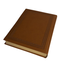 In leather-bound book