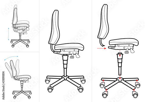 Technical chair drawing