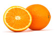 orange over white background, clipping path