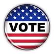 Single vote button over white background