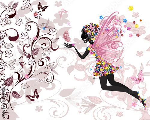 Fototapeta fairy pattern