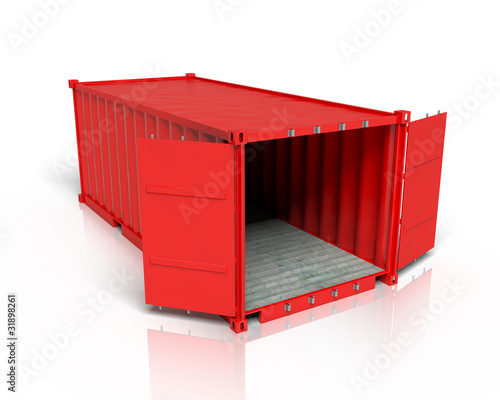 Iso Container Rot offen