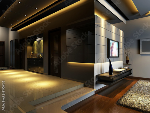 Modern design interior of living room 3d render stock photo and royalty free images on - Interior designs of li ...