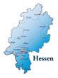 Hessen Übersicht blau in SVG